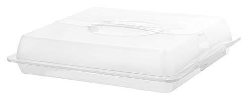 Rotho John großer Partybutler, Kunststoff (PP) BPA-frei, weiss/transparent, (47,5 x 39,0 x 9,8 cm)