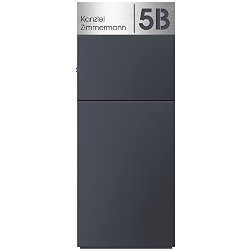 Stand-Briefkasten anthrazit freistehend (RAL 7016) MOCAVI SBox 311 Postkasten groß xxl rostfrei hochwertig mit Hausnummer und Name V4A-Edelstahl graviert...