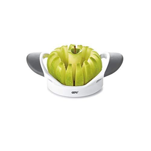 GEFU 13570 Apfelteiler PARTI - Birnenschneider - Apfelentkerner - aus Kunststoff und Edelstahl - Obstschneider mit ergonomischen Griffen