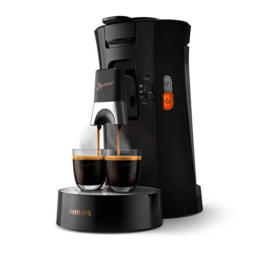 Philips Senseo Select CSA240/60 Kaffeepadmaschine - Kaffeestärkewahl Plus, Memo-Funktion, aus recyceltem Plastik, schwarz