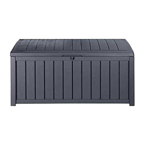 ADHW Auflagenbox 390L Gartenbox Aufbewahrungsbox Gartentruhe Kissenbox Truhe