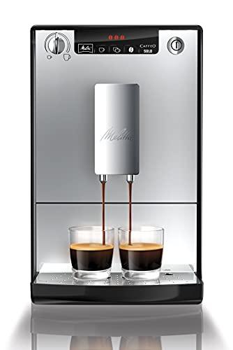 Melitta Caffeo Solo E950-103 Schlanker Kaffeevollautomat mit Vorbrühfunktion   15 Bar   LED-Display   höhenverstellbarer Kaffeeauslauf   Herausnehmbare...
