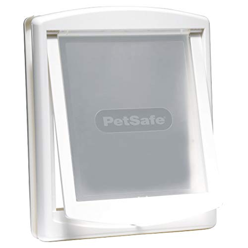 PetSafe Staywell Original Katzenklappe u. Hundeklappe, 2 Verschluss-Optionen inkl. Verschlussplatte, Robuste Kunststoff Klappe, Katzenklappe u. Hundeklappe für...