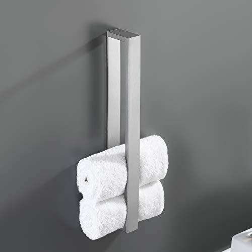 Amazon Brand - Eono Handtuchhalter ohne Bohren Edelstahl SUS304 Handtuchregal Handtuchring Selbstklebend Handtuch Halter Bad Gästehandtuchhalter 40cm...