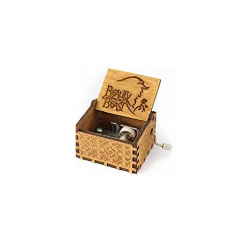 IUwnHceE Holz Spieluhr Klassische Geschnitzte Musical Box Crafts Schöne Und Das Biest Geschenke Für Kinder Freunde