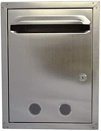 OUWTE Briefkasten Briefkasten Wandhalterung, Edelstahl Briefkasten Vorschlagsbox mit Schloss Meldebox A4 Wahlurne Wahlbox Spendenbox Merit Box Outdoor Wall...