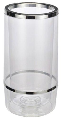 Weinkühler Flaschenkühler aus Kunststoff doppelwandig Höhe 23cm