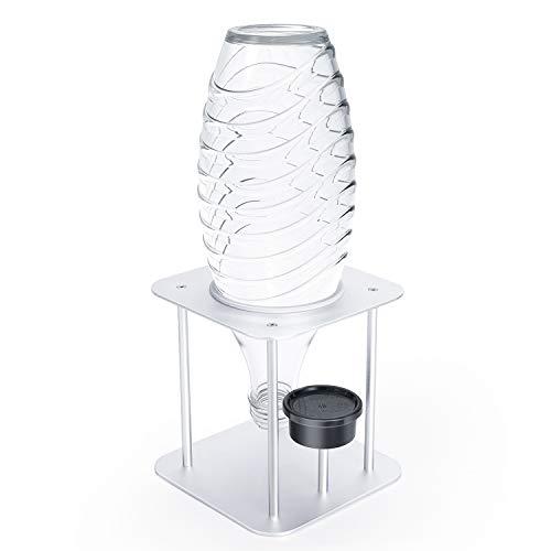 Jelly Comb 1er Abtropfhalter, Flaschenhalter Abtropfständer Abtropfgestell mit Deckelhalterung aus Alulegierung für SodaStream Crystal, Glaskaraffen,...
