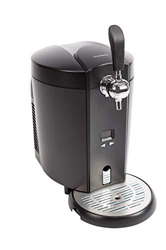 Thomson Kühlung THBD47718 Bierzapfanlage, Zapfanlage für 5 Liter Bierfass, Temperatur regelbar (4 bis 12 °C), zuhause Fassbier zapfen & Bier kühl genießen,...