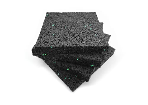 4er Set PREMIUM Gummipads 90x90x10mm Antirutsch Pads - Antivibrationsmatte Waschmaschine Trockner - Gummi Stopper Möbel - Schalldämmung Lautsprecher -...