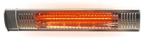 Gardigo Infrarot Heizstrahler mit Goldröhre für den Außenbereich I Kurzwellen Heizstrahler für Garten, Garage, Terrasse und Werkstatt I 2000 Watt I inkl....