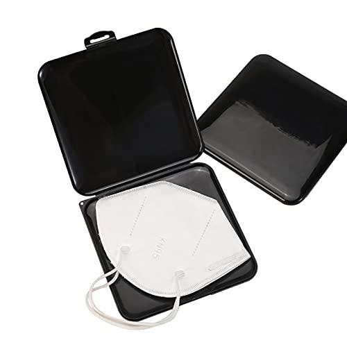 Aufbewahrungsbox Tragbare,2 Stück Aufbewahrungsbox für Masken und Maskenbox für Mundschutz im Set,Maskenbox zur Vermeidung Perfekt für Unterwegs Schule...