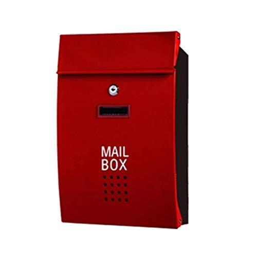 WWWXD Briefkasten aus Edelstahl Briefkasten Briefkasten mit Schloss Berichtsbox A4 Wahlurne Wahlbox Spende Box Verdienstbox Außenposteingang
