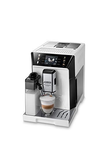 De'Longhi PrimaDonna Class ECAM 550.65.W Kaffeevollautomat mit LatteCrema Milchsystem, Cappuccino und Espresso auf Knopfdruck, 3,5 Zoll TFT Farbdisplay und...
