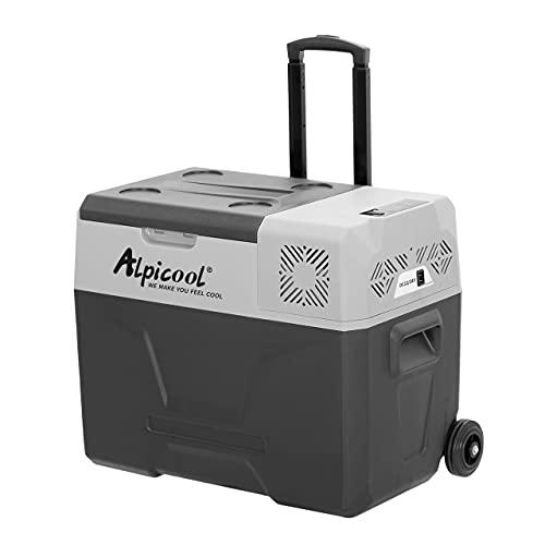 Alpicool CX40 40 Liter Kühlbox 12V tragbarer Kühlschrank elektrische Gefrierbox klein Gefrierschrank für Auto camping, Lkw, Boot und Steckdose mit...