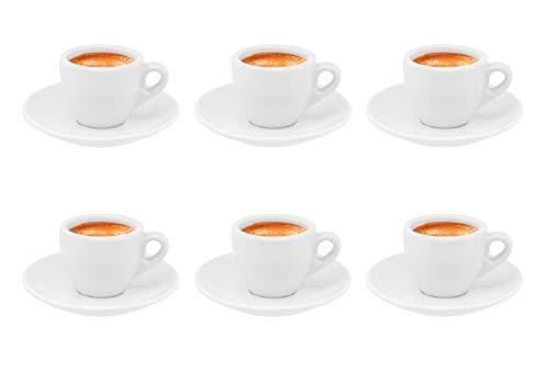 Business Coffee Dickwandige Espressotassen Ristretto Autentico, weiß aus Porzellan, 6 Stück
