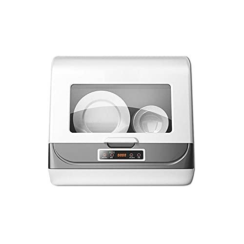 HENGSEN Tragbare Arbeitsplatte Geschirrspüler, Mini Geschirrspüler Tischgeschirrspüler Mit Einlass Auslassschlauch Energieeinsparung Für Home Kitchen,Weiß