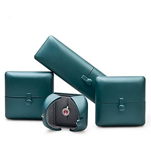 Yousiju 4 teile/satz Blau Zwei offene Design Mikrofaser Ring Verpackungskoffer Leder Anhänger Armband Lager Schmuck Organizer (Color : A, Size : As shown)