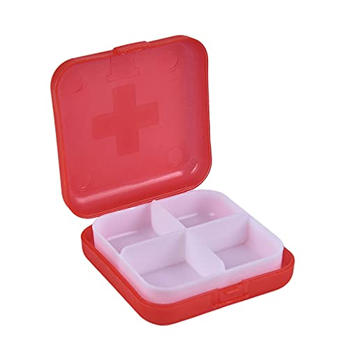 Tabletten Box 3Pc Mini Portable 2/3/6 Grid Push Open Style Pillenschachtel Medizin Pillbox Tablette Aufbewahrungskoffer Behälter Hüllen Aufbewahrungsbox-6 5X6...