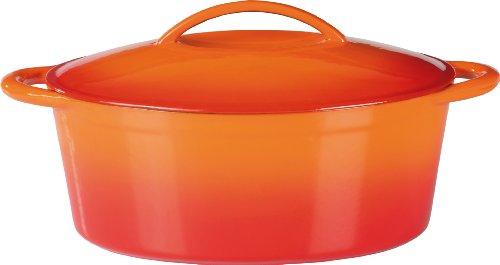 GSW 716420 GUSSEISEN Bräter 33x25cm O:S:, Orange / Rot