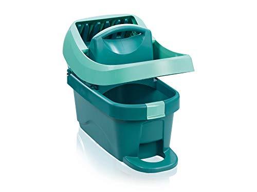 Leifheit Wischtuchpresse Profi XL mit Rollen und Tragegriff, mit Fußbedienung für rückenschonendes Putzen ohne Bücken und saubere Hände, 8 Liter Eimer mit...