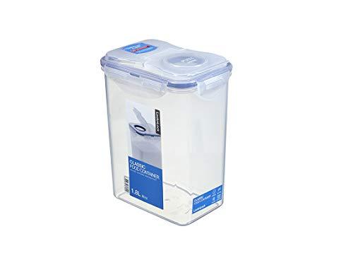 LocknLock PP Classic Aufbewahrungsbox, 151 x 108 x 190 mm, 1,8 L, 100 % Luftdicht, Cleveres Verschluss-System, Vorratsbehälter, Schüttdose, Mehl Aufbewahrung,...