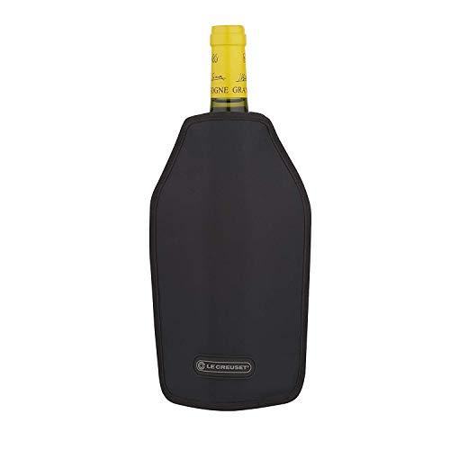 LE CREUSET, Aktiv-Weinkühler für Wein oder Champagner, Schwarz, Wasserabweisender Stoff, WA-126