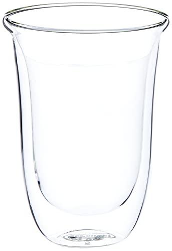 De'Longhi DLSC312 Doppelwandiges Thermoglas Latte Macchiato, 2-er Set