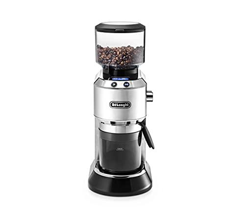 De'Longhi Dedica KG 521.M Elektrische Kaffeemühle, 2,1' LCD Display mit Aroma Funktion, Vollmetallgehäuse, Edelstahl Kegelmahlwerk, einstellbare...