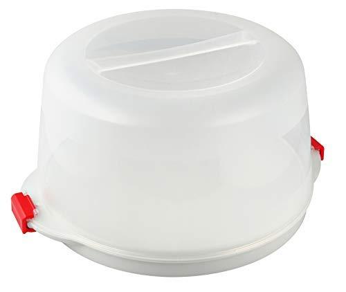 Dr. Oetker Kuchenbox, Party- und Tortenbutler mit Tragehenkel und Fach für Kühlakkus, runder Kuchenbehälter mit Servierboden (Kuchentransportbox: Ø 38,5x19...