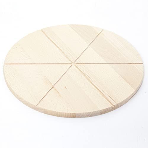 HolzFee Pizzabrett Holz Pizza Schneidbrett 35 cm