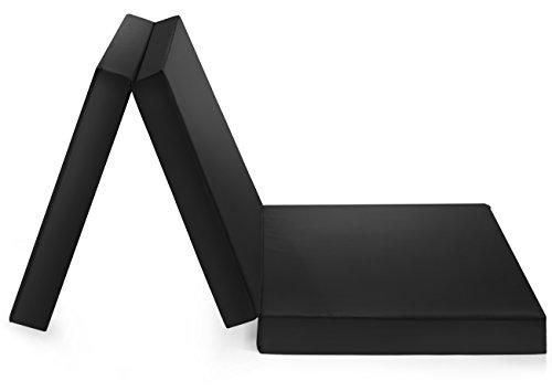 Badenia Gästematratze, 3-teilige Klappmatratze, 190 x 60 cm, schwarz