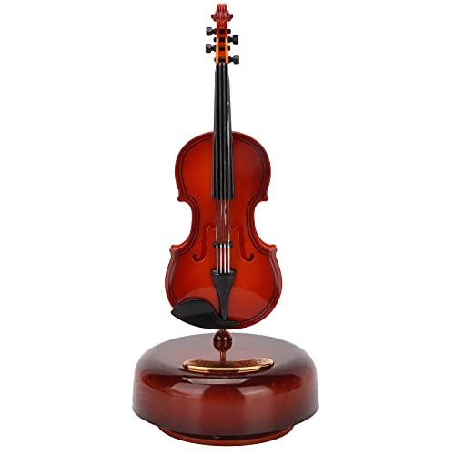BigKing Gitarre Spieluhr Dekoration, Gitarre Spieluhr Ornament Klassisches Instrument Dekor mit Sockel für Hausweinschrank Dekoration Geschenk