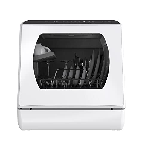 Mini Spülmaschine,Tischgeschirrspüler mit 5L Wassertank, Spülmaschine Freistehend mitoder ohne Wasseranschluss