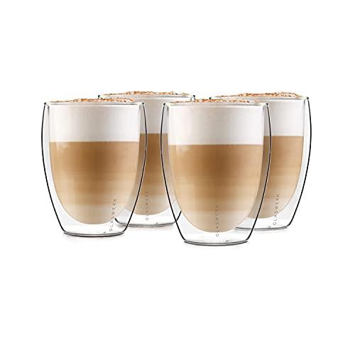 GLASWERK Design Gläser - doppelwandige Gläser aus Borosilikatglas - spülmaschinenfeste Teegläser - hochwertige Thermogläser , für Latte Macchiato oder...