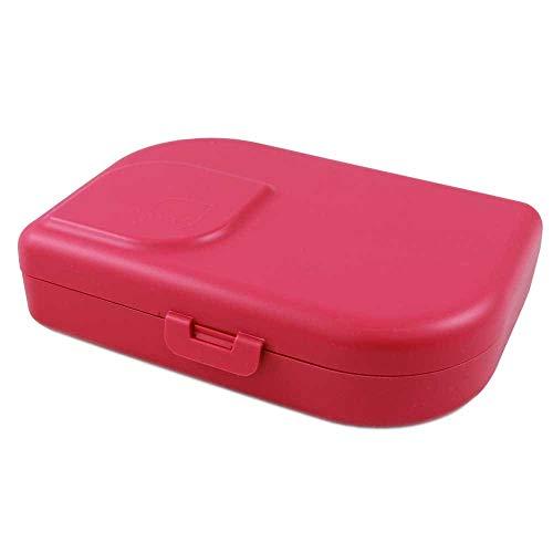 ajaa! Bio Brotdose - Lunch-Box aus nachwachsenden Rohstoffen ohne Melamin, ohne Weichmacher wie BPA, plastikfrei (pink)