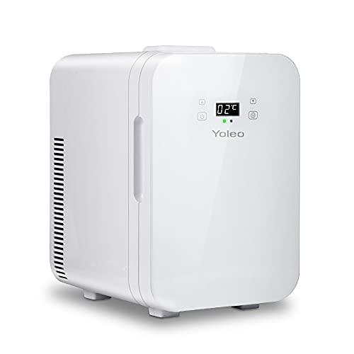 YOLEO mini Kühlschrank 10L, Warmhaltebox Kühlbox Auto mit Kühl- und Heizfunktion, -9~65 ℃ Temperatureinstellbar LED-Anzeige, Wechselstrom + 12V DC-Energie...