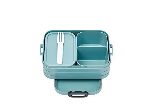 Mepal Bento-Lunchbox Take A Break Nordic Green midi – Brotdose mit Fächern, geeignet für bis zu 4 Butterbrote, TPE/pp/abs, 0 mm