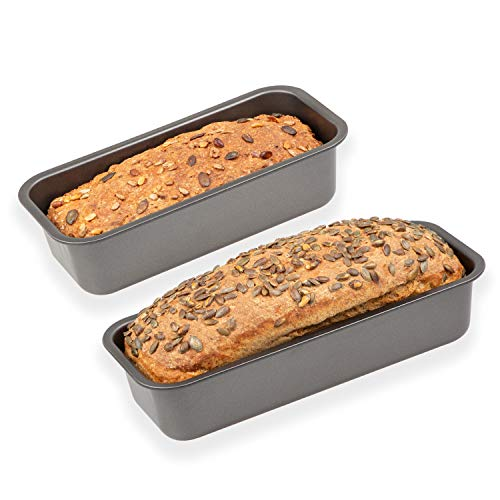 chg Set 263-02 Kasten- und Brotbackformen, 2er-Set 'Made in Germany', hochwertige Ilag Special 2-Schicht Antihaftbeschichtung, 250°C hitzebeständig