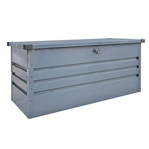 Home Deluxe - Metallaufbewahrungsbox - Megabox XL - verzinktes Stahlblech, 400L Fassungsvermögen - Maße: 126 cm x 56 cm x 62 cm | Aufbewahrungskiste Gartenbox...