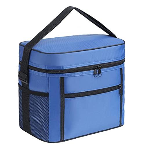 Yililay isolierte Kühlertasche Thermal Picknickkorb Mittagessen Essen Transportbehälter mit Taschen für Strand Camping blau