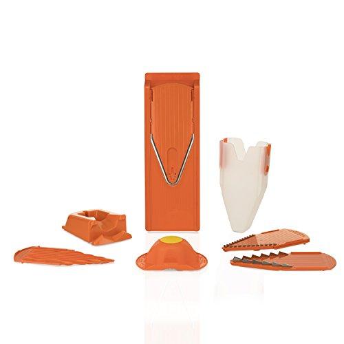Börner V3 V-Hobel Profi Set orange, Gurkenhobel Gemüsehobel Gemüseschneider Pommesschneider