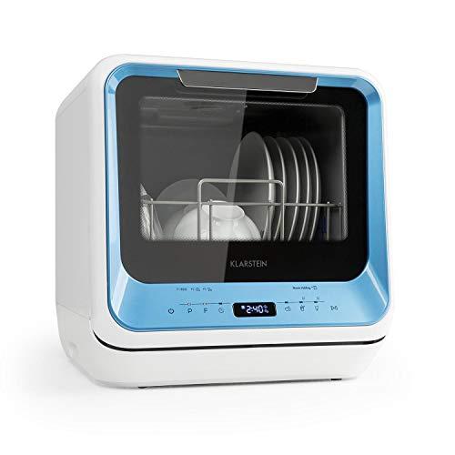 Klarstein Amazonia Mini Spülmaschine Geschirrspüler Geschirrspülmaschine (, Platz für 2 Maßgedecke, 6 Programme, 5 Liter Wasser benötigt, LED-Display,...
