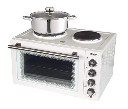 Silva-Homeline KK 2900 Kleinküche mit Umluft und Grillfunktion, großer 30 L Garraum, 3 Einschubebenen, inklusive Grillrost, Pizzablech und Drehspieß, 3300,...