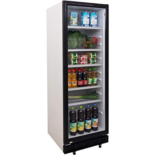 ZORRO - Flaschenkühlschrank ZK360 - Glastüre - 4 Roste - Getränkekühlschrank 360 Liter