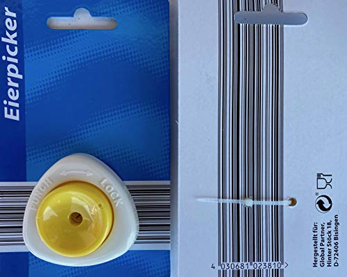 Global 2381 Eierpicker modern Weiss/gelb Eierdorn