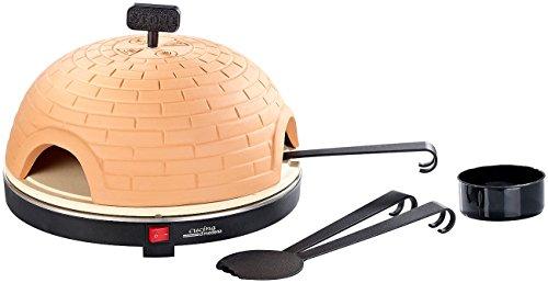 Cucina di Modena Pizza Dome: Premium Pizzaofen mit Terrakotta-Haube, Schamottenstein-Platte, Ø 40cm (Pizzagrill)