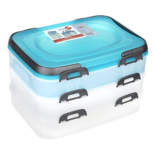 Domotti Behälter für Lebensmittel auf DREI Ebenen Dolce Mix
