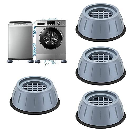 Vibrationsdämpfer,4 Stück Waschmaschine Fußpolster,Verstellbares Gummi-Fußpolster,Waschmaschinenunterlage,Antivibrationsmatte, Waschmaschine Füße Pad...