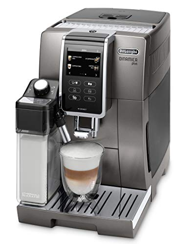 De'Longhi Dinamica Plus ECAM 370.95.T Kaffeevollautomat mit LatteCrema Milchsystem, Cappuccino & Espresso, 3,5 Zoll TFT Touchscreen Farbdisplay und...